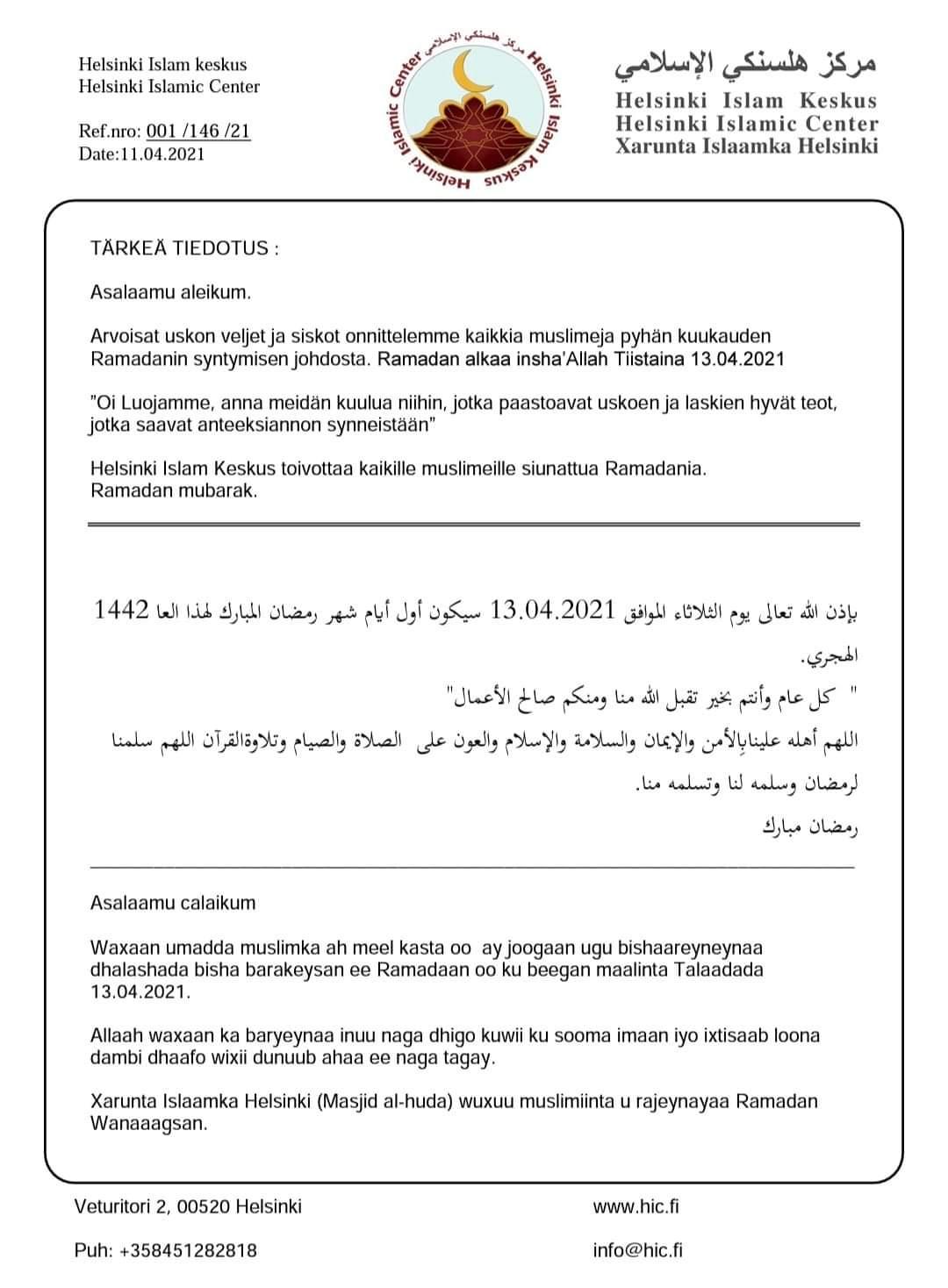Ramadan Info